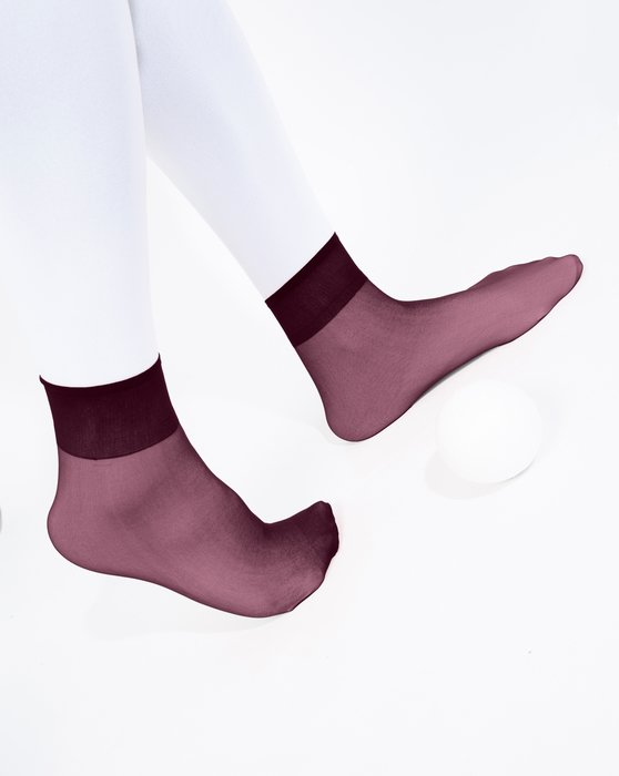 Maroon Sheer Anklet Style# 1528 | We Love Colors
