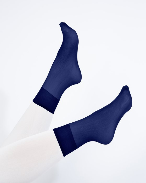 Navy Sheer Anklet Style# 1528   We Love Colors