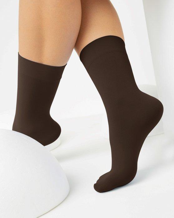 Brown Womens Microfiber Socks Style# 1529   We Love Colors