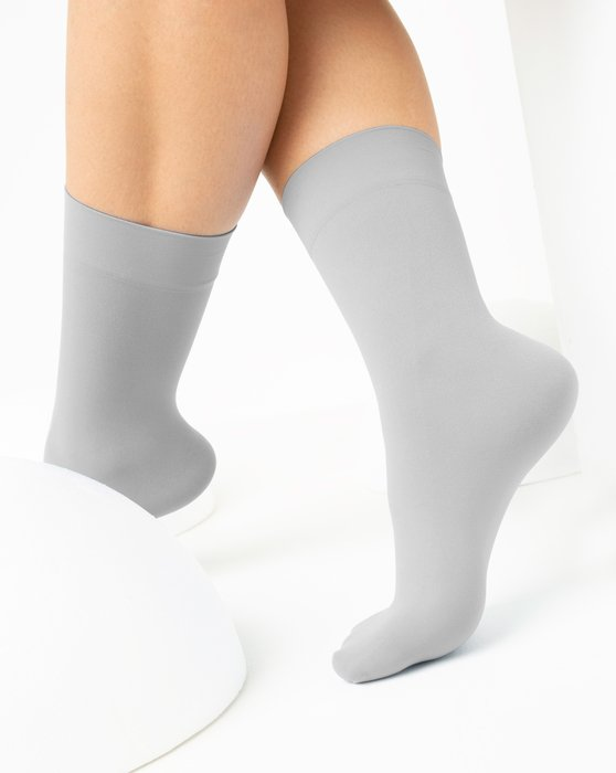 Light-Grey Womens Microfiber Socks Style# 1529 | We Love Colors