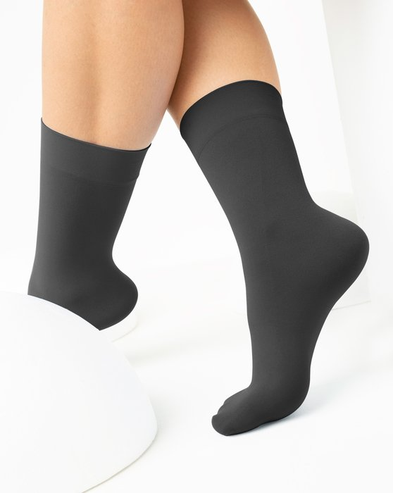 Charcoal Womens Microfiber Socks Style# 1529   We Love Colors
