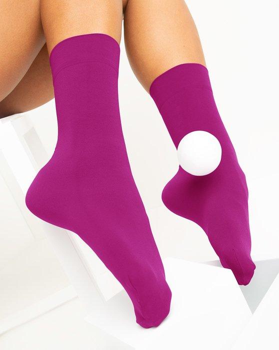 Fuchsia Womens Microfiber Socks Style# 1529 | We Love Colors