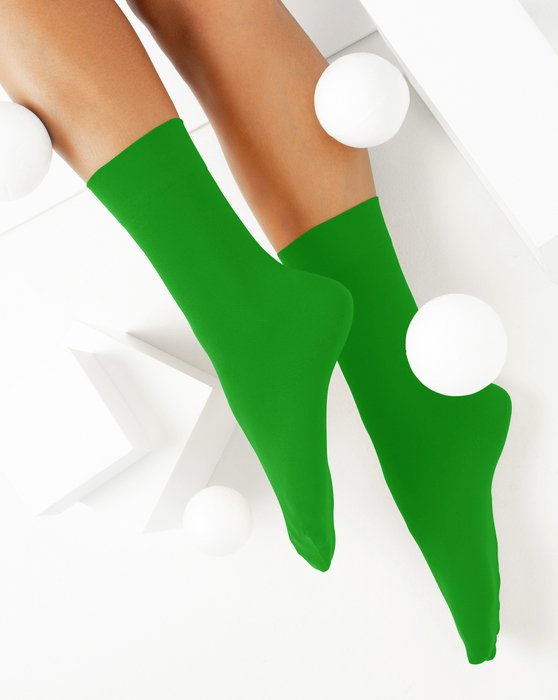 Kelly Green Womens Microfiber Socks Style# 1529 | We Love Colors