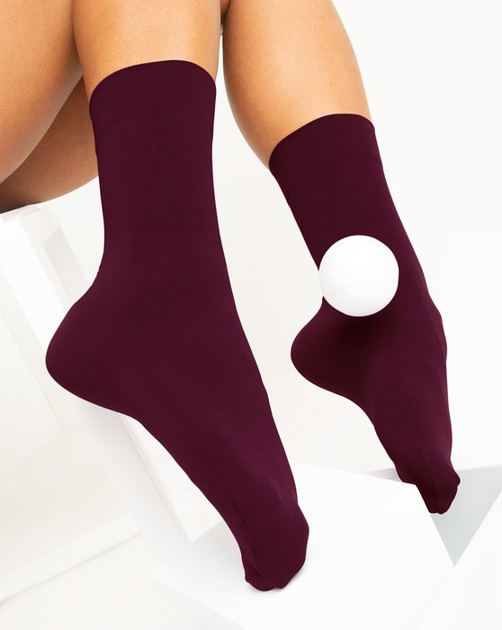 Maroon Womens Microfiber Socks Style# 1529 | We Love Colors