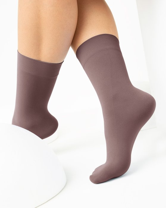 Mocha Womens Microfiber Socks Style# 1529 | We Love Colors