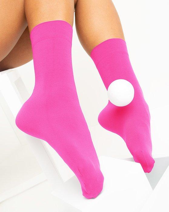 Neon Pink Womens Microfiber Socks Style# 1529 | We Love Colors