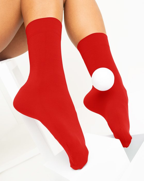 Scarlet Red Womens Microfiber Socks Style# 1529 | We Love Colors