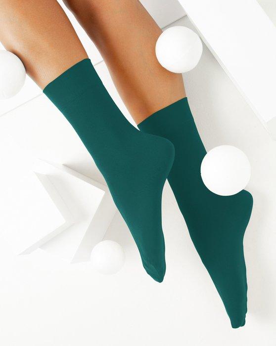 Spruce-Green Womens Microfiber Socks Style# 1529 | We Love Colors