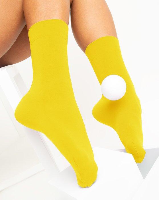 Yellow Womens Microfiber Socks Style# 1529 | We Love Colors