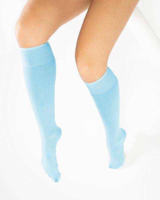 Aqua Knee Highs Style# 1532   We Love Colors