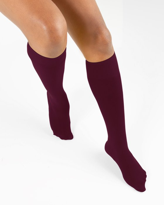 Maroon Knee Highs Style# 1532 | We Love Colors