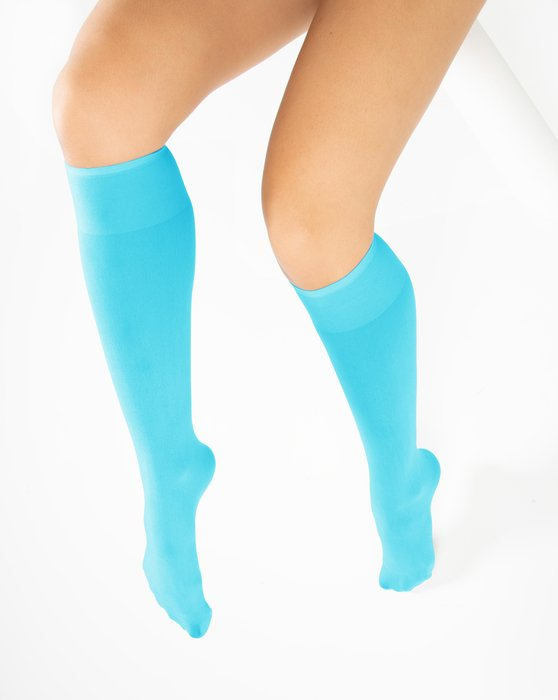 Neon-Blue Womens Knee Highs Style# 1532   We Love Colors