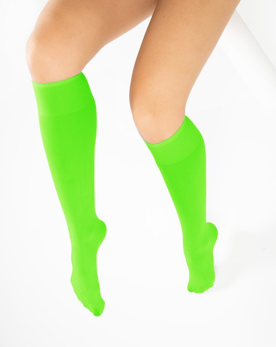 Neon Green Knee Highs Style# 1532 | We Love Colors