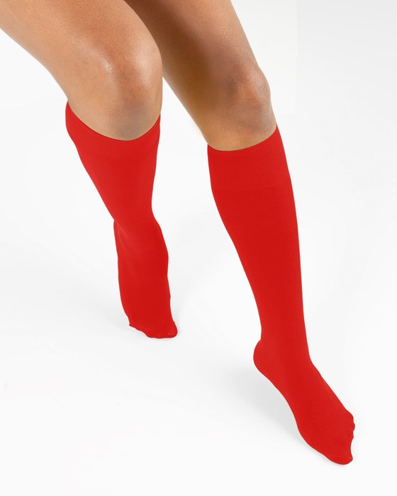 Scarlet-Red Womens Knee Highs Style# 1532 | We Love Colors