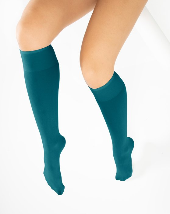 Teal Womens Knee Highs Style# 1532 | We Love Colors