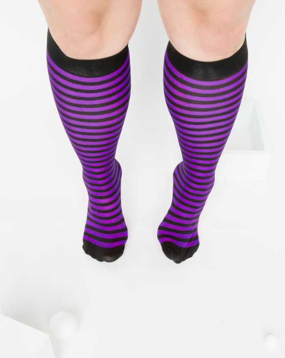 Amethyst Womens Striped Knee Highs Style# 1533 | We Love Colors