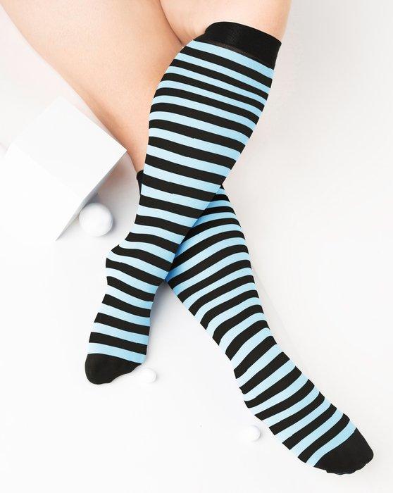 Aqua Womens Striped Knee Highs Style# 1533   We Love Colors