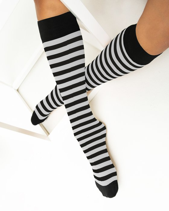 Light-Grey Womens Striped Knee Highs Style# 1533 | We Love Colors