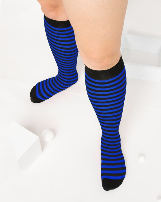 Royal Womens Striped Knee Highs Style# 1533 | We Love Colors