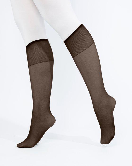 Brown Womens Sheer Knee Highs Style# 1536   We Love Colors