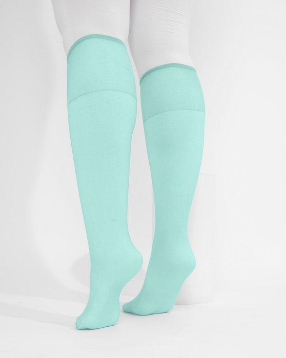 Dusty-Green Womens Sheer Knee Highs Style# 1536 | We Love Colors