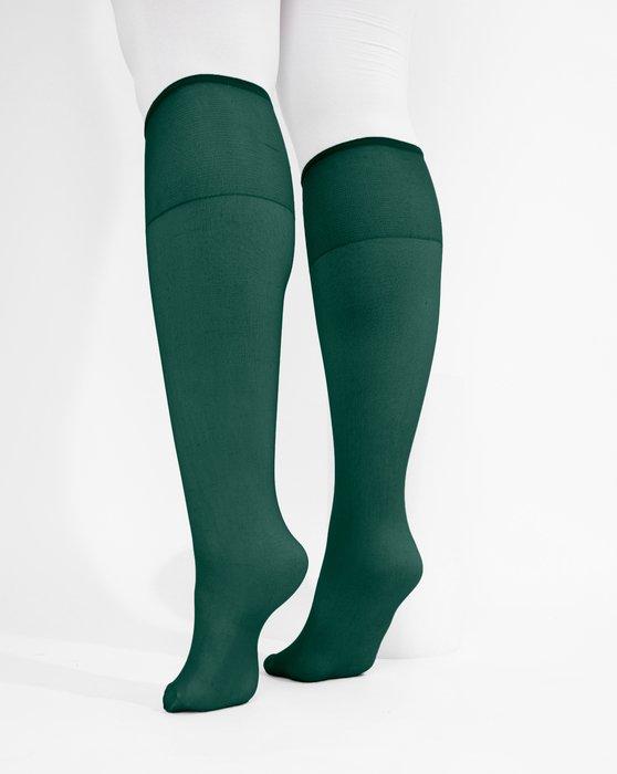 Hunter-Green Sheer Knee Highs Style# 1536 | We Love Colors