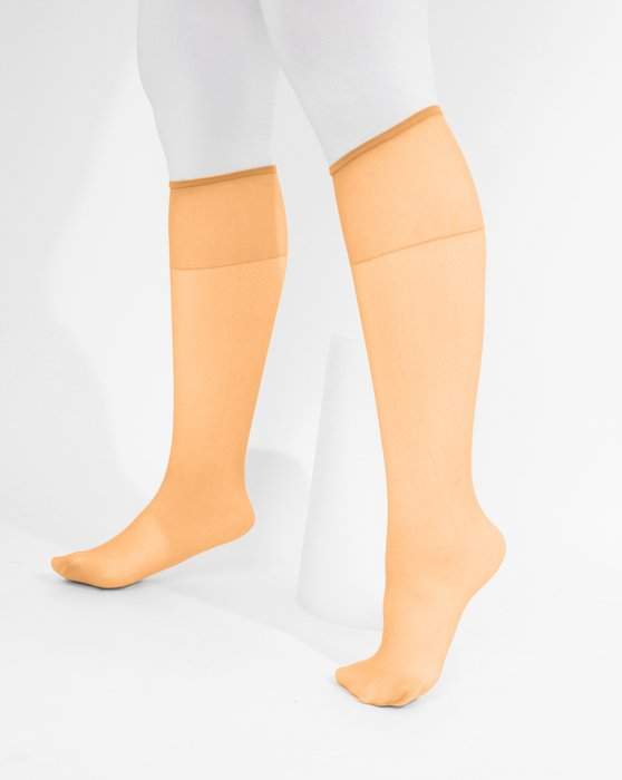 Light Orange Womens Sheer Knee Highs Style# 1536 | We Love Colors