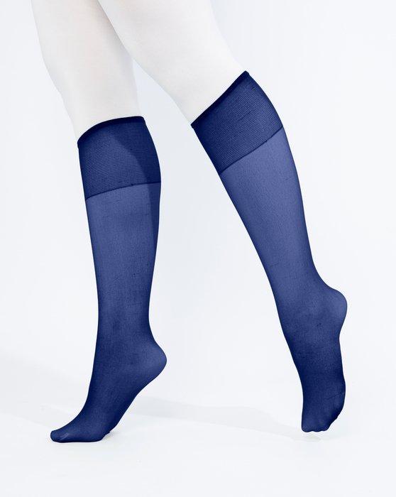 Navy Womens Sheer Knee Highs Style# 1536 | We Love Colors