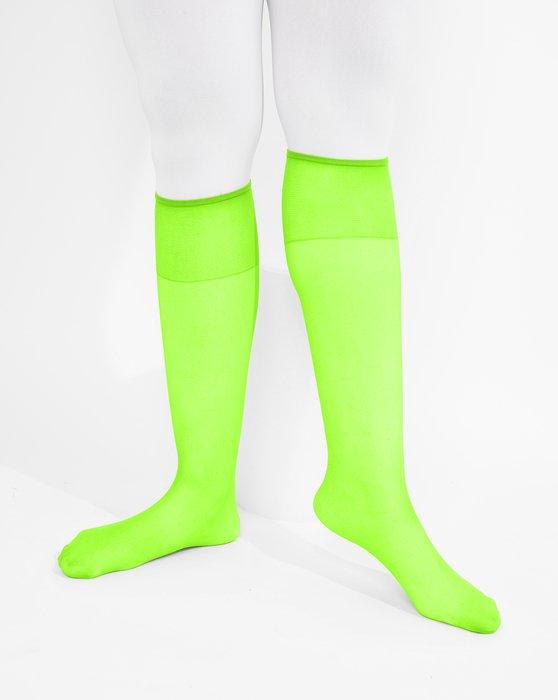 Neon Green Sheer Knee Highs Style# 1536 | We Love Colors