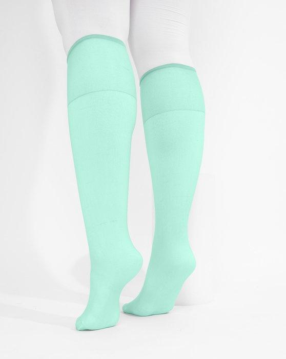Pastel Mint Sheer Knee Highs Style# 1536 | We Love Colors