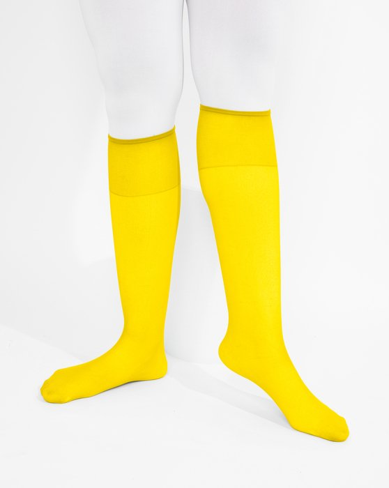 Yellow Sheer Knee Highs Style# 1536 | We Love Colors