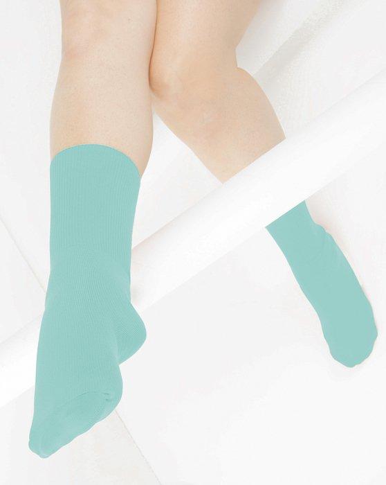 Dusty-Green Womens Nylon Socks Style# 1551 | We Love Colors