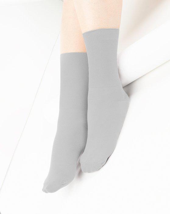 Light-Grey Womens Nylon Socks Style# 1551 | We Love Colors