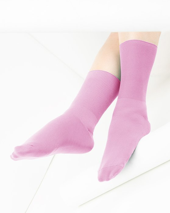 Light-Pink Womens Nylon Socks Style# 1551 | We Love Colors