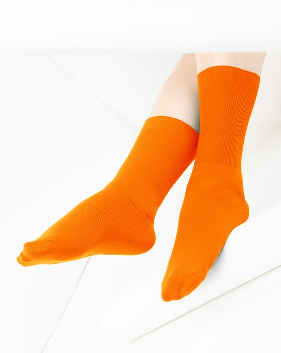 Neon-Orange Womens Nylon Socks Style# 1551 | We Love Colors