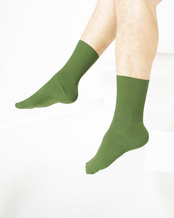 Olive-Green Womens Nylon Socks Style# 1551 | We Love Colors