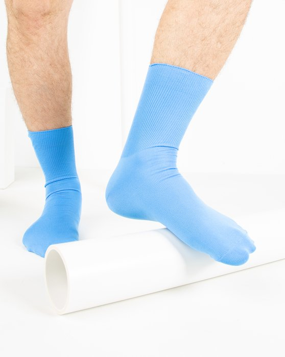 Sky-Blue Womens Nylon Socks Style# 1551 | We Love Colors