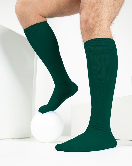 Hunter Green Sports Socks Style# 1559 | We Love Colors