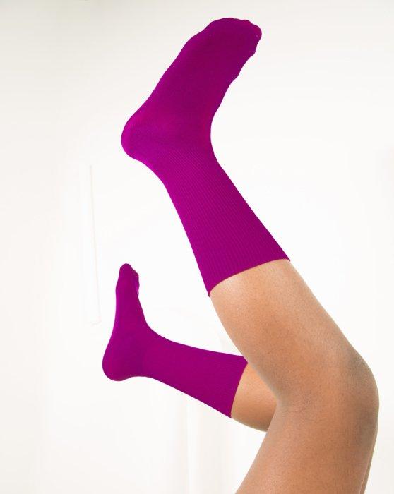Magenta Womens Sports Socks Style# 1559 | We Love Colors