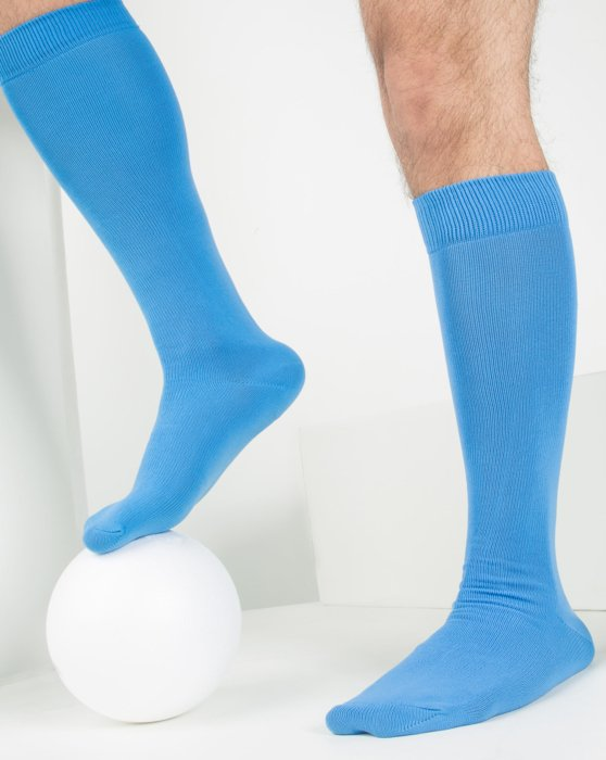 Medium-Blue Womens Sports Socks Style# 1559 | We Love Colors