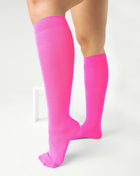 Neon Pink Sports Socks Style# 1559   We Love Colors