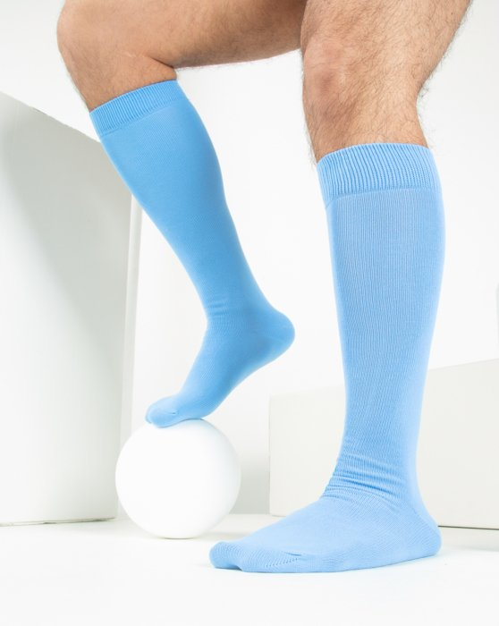 Sky Blue Womens Sports Socks Style# 1559 | We Love Colors