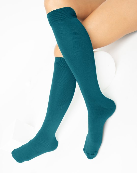 Teal Sports Socks Style# 1559 | We Love Colors