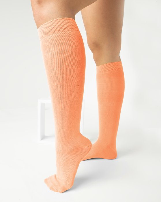 Light-Orange Womens Sports Socks Style# 1559 | We Love Colors