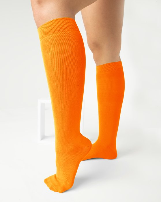 Neon-Orange Womens Sports Socks Style# 1559 | We Love Colors