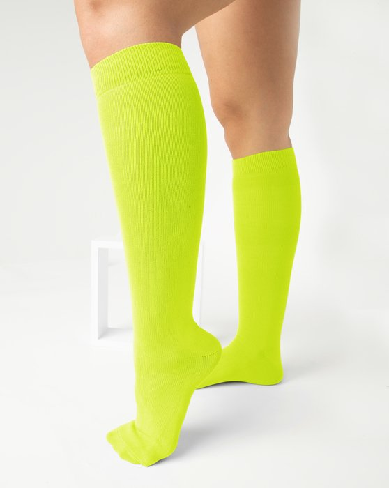 Neon-Yellow Womens Sports Socks Style# 1559 | We Love Colors