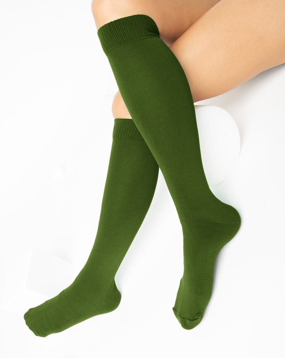 Olive-Green Womens Sports Socks Style# 1559 | We Love Colors