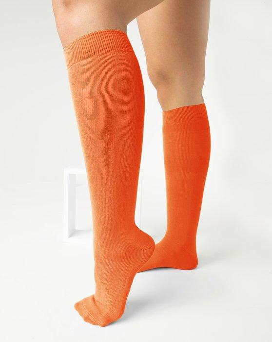Orange Womens Sports Socks Style# 1559 | We Love Colors