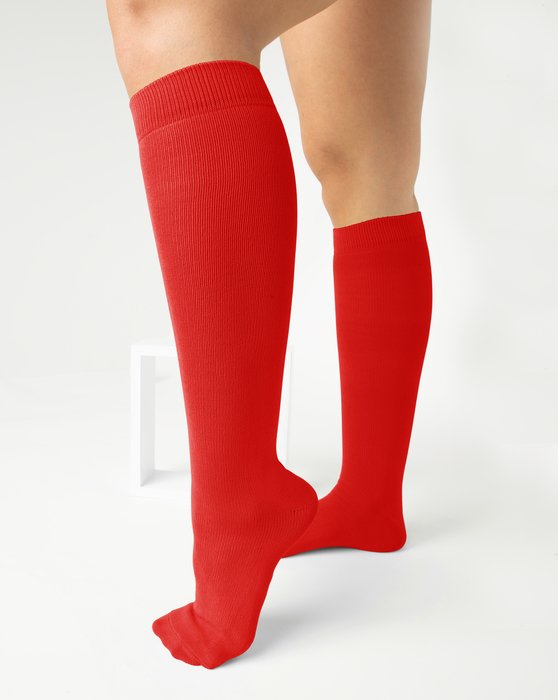 Scarlet-Red Womens Sports Socks Style# 1559 | We Love Colors