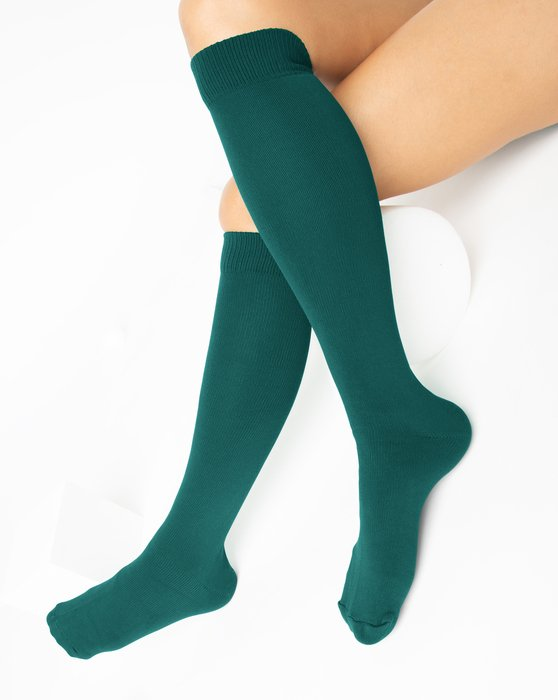 Spruce-Green Womens Sports Socks Style# 1559 | We Love Colors